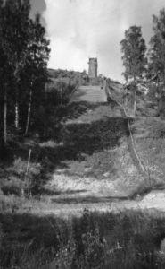 Kullaanvuoren hyppyrimäki 1950-60-lukujen taitteessa.