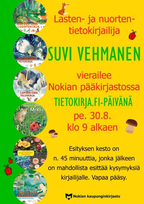 Suvi Vehmanen Tietokirja.fi-päivässä