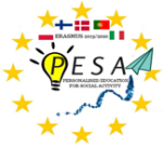 Erasmusprojektin Pesa -logo
