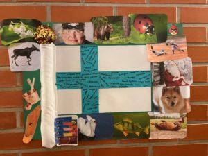 Askarreltu Suomen lippu