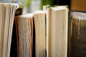 Kirjoja rivissä.